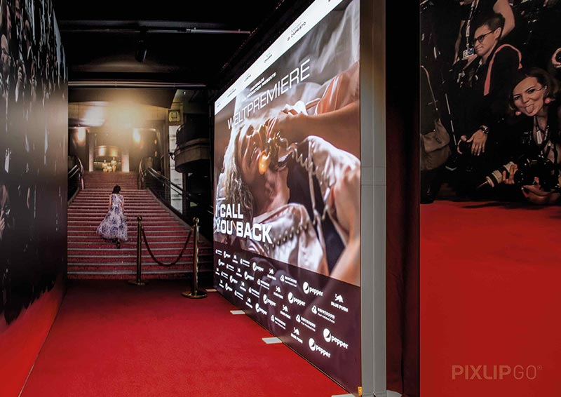 Film Premier Pixlip Go Exhibition Stand
