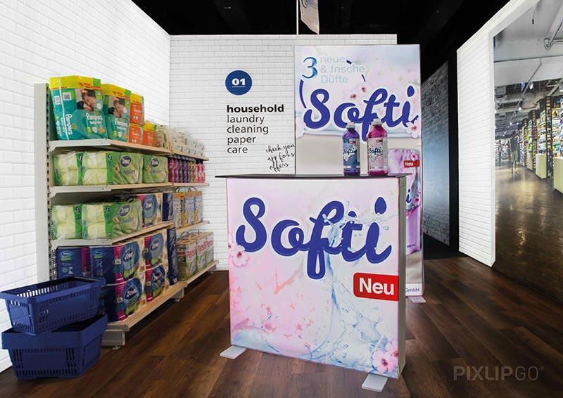 Softi Pixlip Go Exhibition Stand