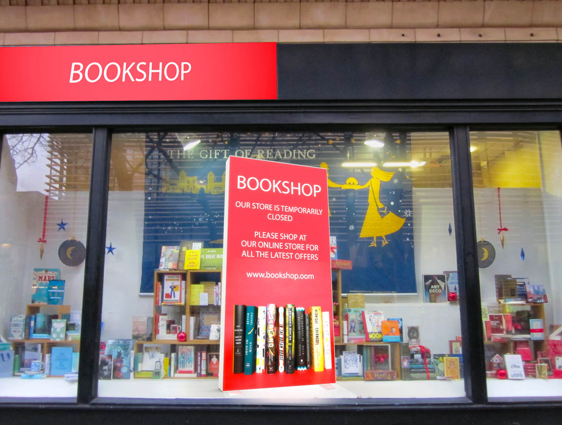 Bookshop currently closed
